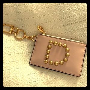 Tory Burch letter D initial coin purse FOB NWOT